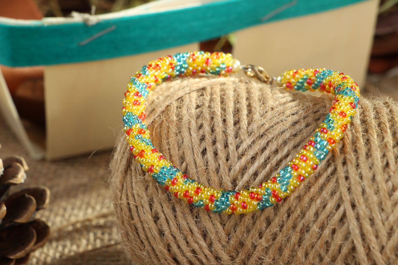 Beaded cord bracelet photo 3