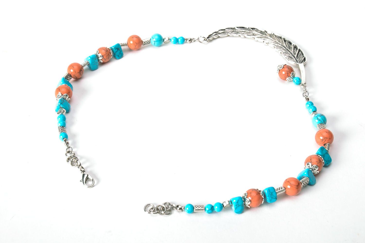 Necklace made of turquoise  photo 3