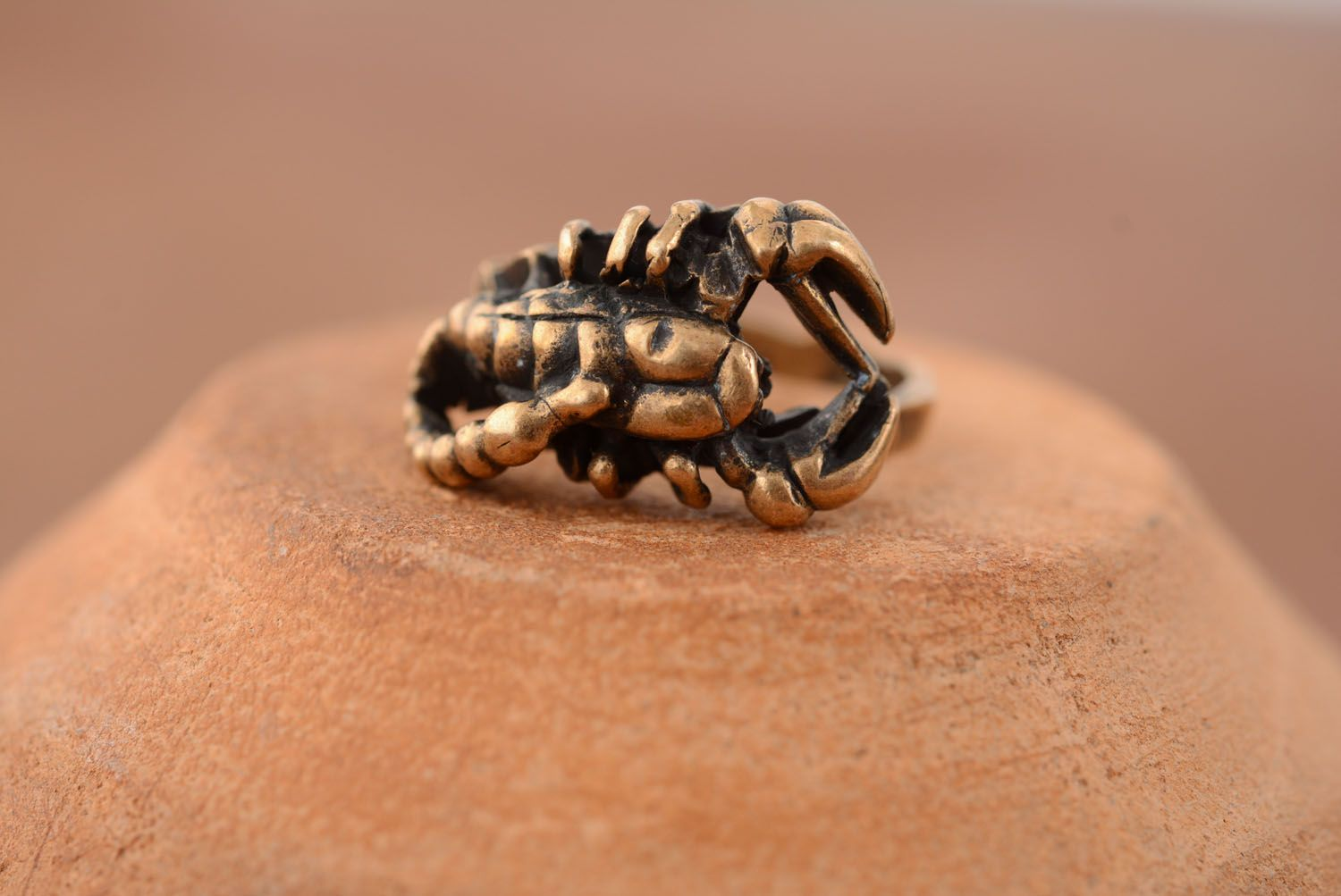 Bronze Ring Skorpion foto 1