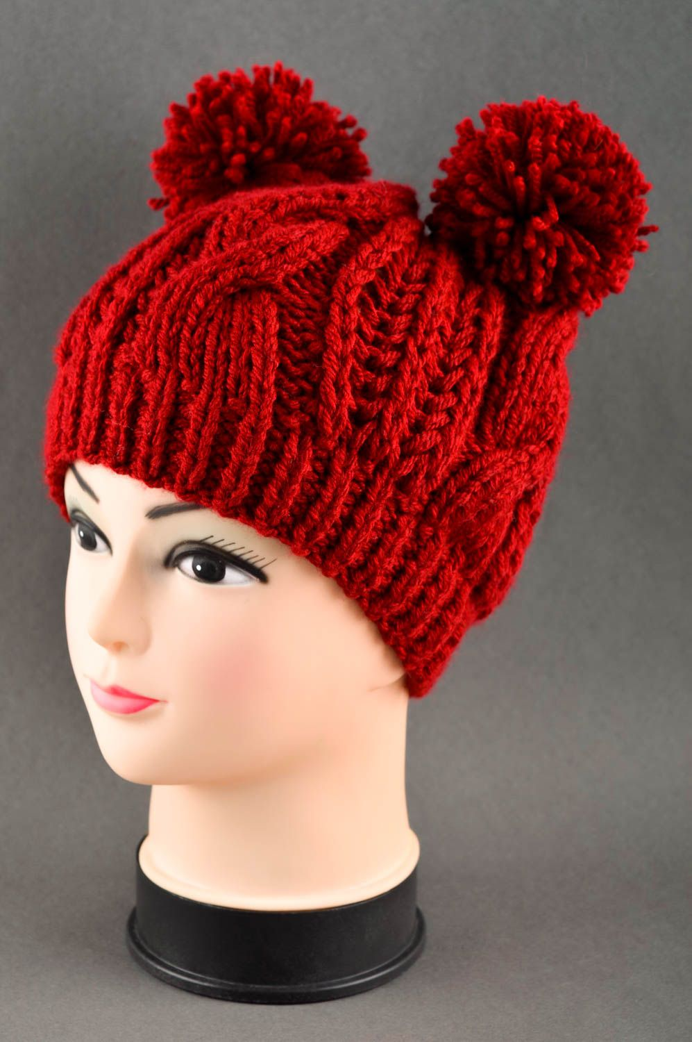 headwear Handmade knitted hat women hat winter accessories stylish hat for girls - MADEheart.com