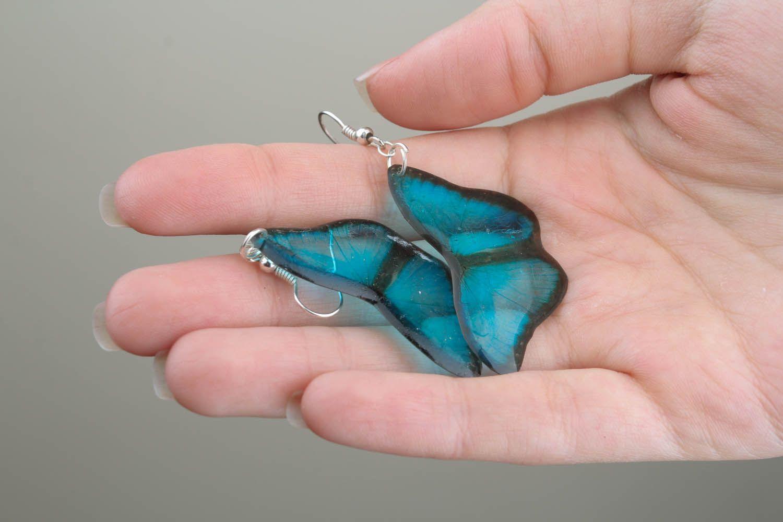 Earrings in the shape of butterflies photo 1