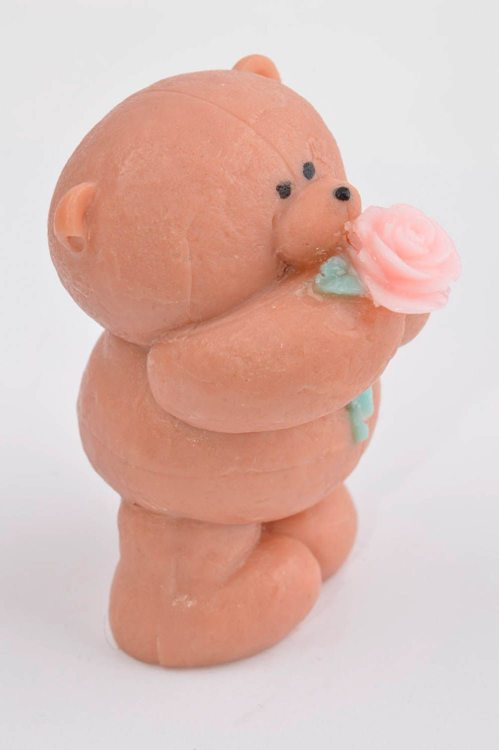Handmade soap natural soap teddy-bear with rose natural cosmetic aroma soap photo 4