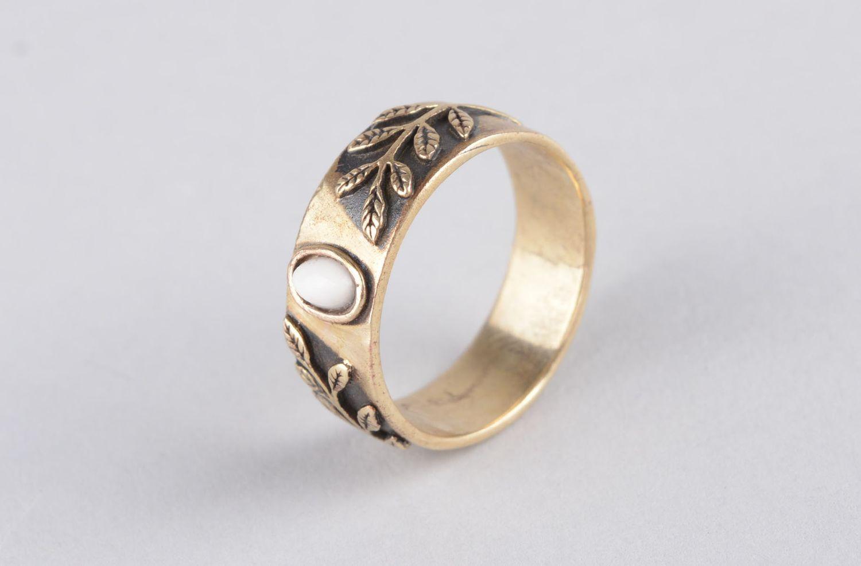 Handmade women ring bronze rings for women metal jewelry for women metal ring photo 9