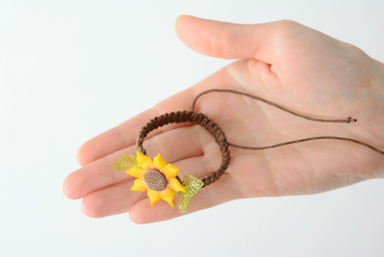 Handmade Armband mit Blume foto 4