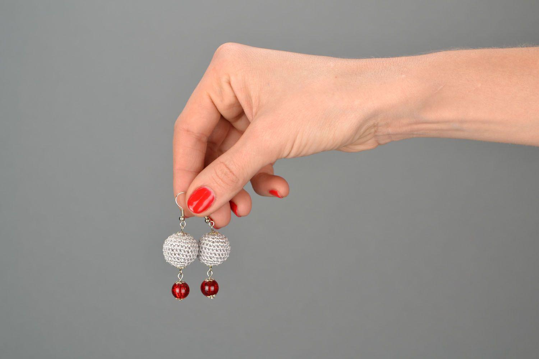 Crocheted earrings photo 2
