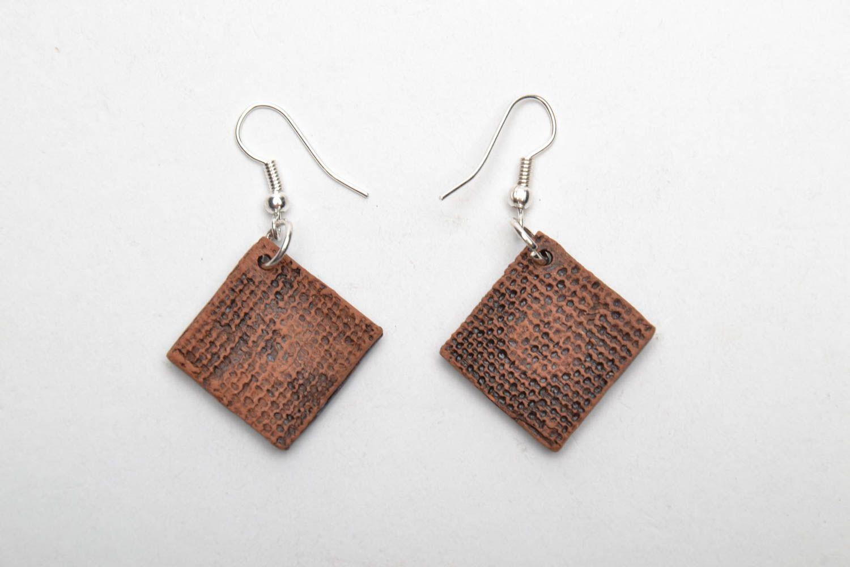Unusual ceramic earrings photo 5