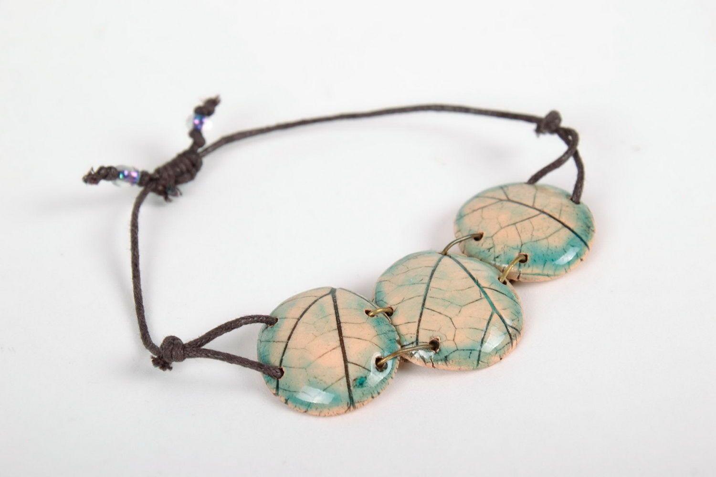 Joli bracelet en céramique fait main photo 2