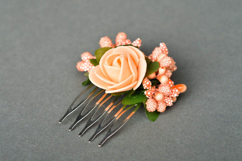 Handmade fashion hair comb flowers for hair floral hair clip kids accessories photo 2