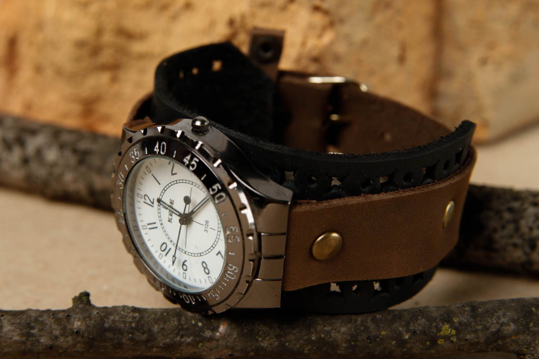 Купить широкий кожаный ремень для часов кожаная полоса на ремень
