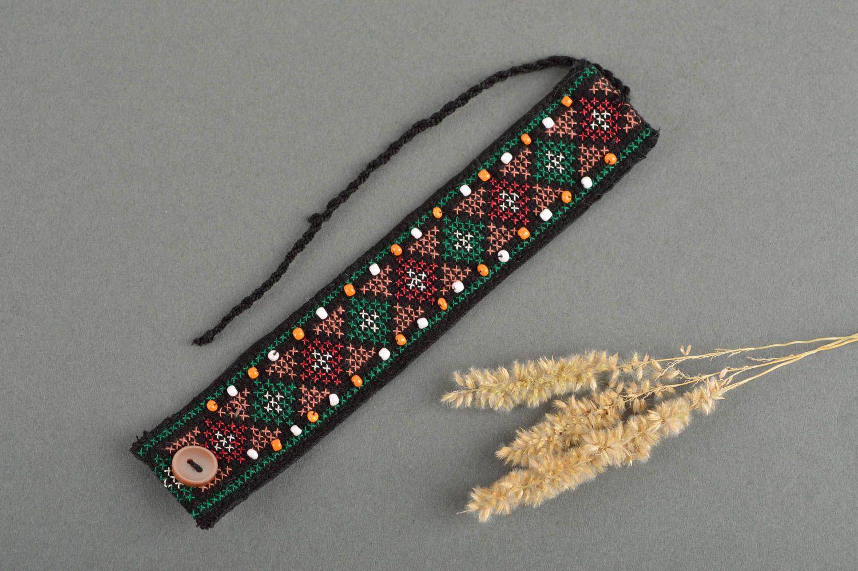 fcf8765ec0b8 pulseras textiles Pulsera de tela bordada hecha a mano bisutería étnica  accesorio para mujer - MADEheart