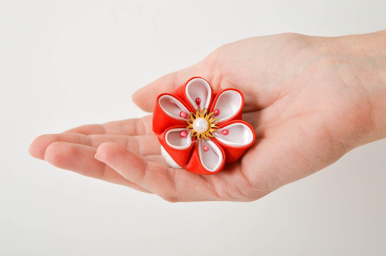 Handmade designer hair tie unusual flower accessory elegant cute hair tie photo 2