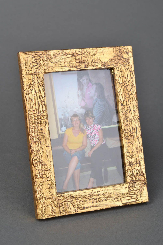 Handmade golden photo frame photo 1