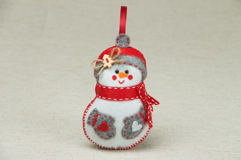 Madeheart adorno navide o de fieltro mu eco de nieve - Adornos navidenos de fieltro ...