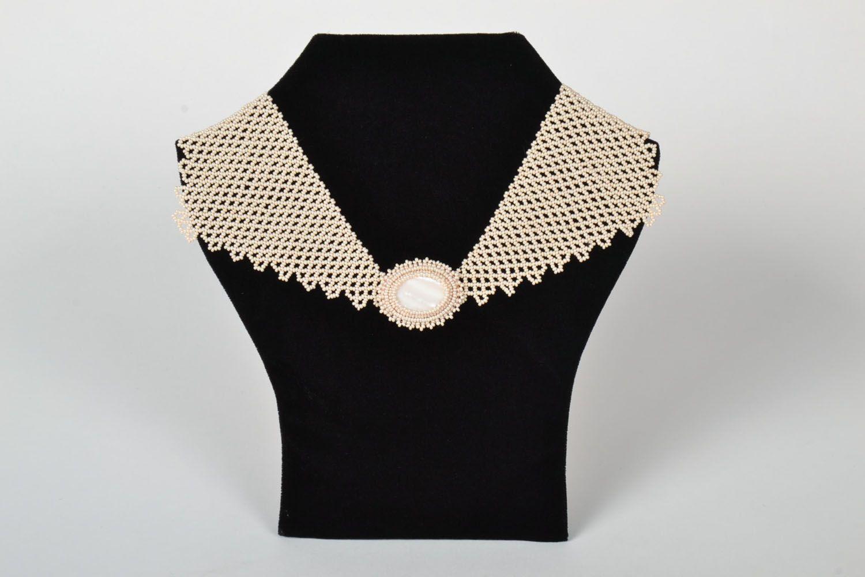 Unusual handmade necklace photo 1
