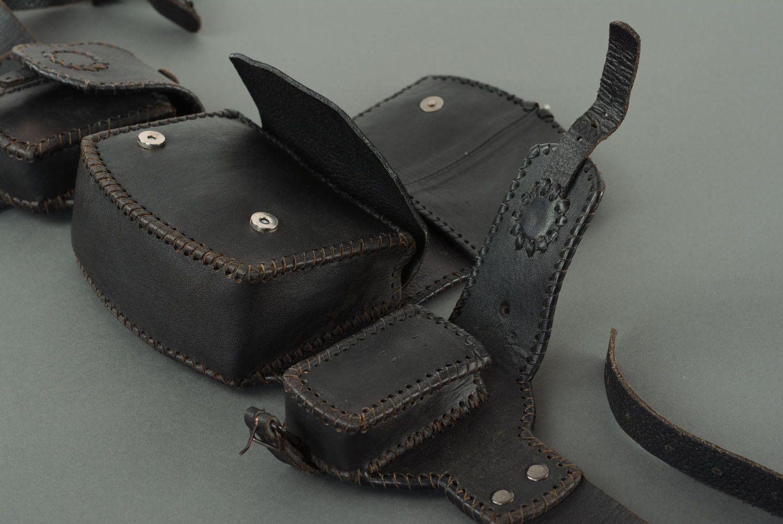 Men's leather belt bag photo 2