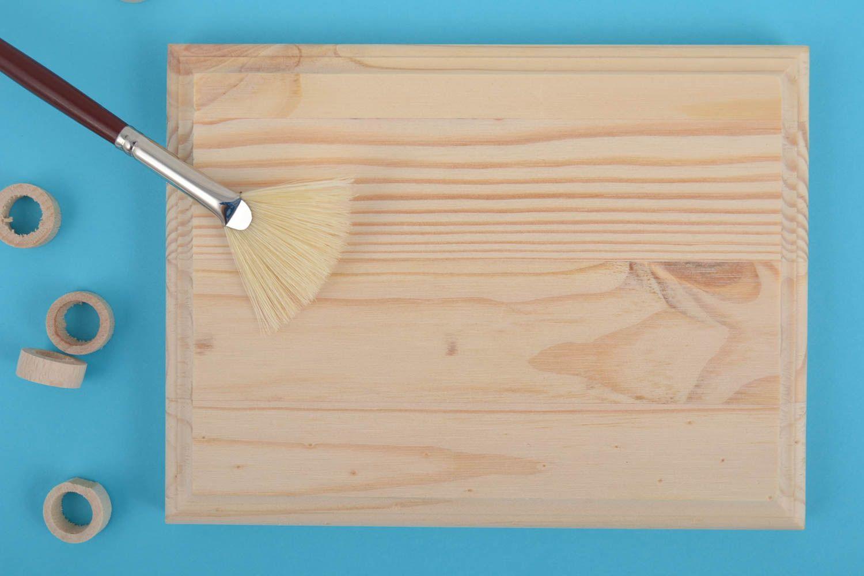 madeheart petite plaque en bois brut clair rectangulaire faite main d corer et peindre. Black Bedroom Furniture Sets. Home Design Ideas