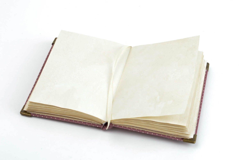 madeheart carnet de notes agenda fait main design bordeaux coton 60 feuilles cadeau femme. Black Bedroom Furniture Sets. Home Design Ideas