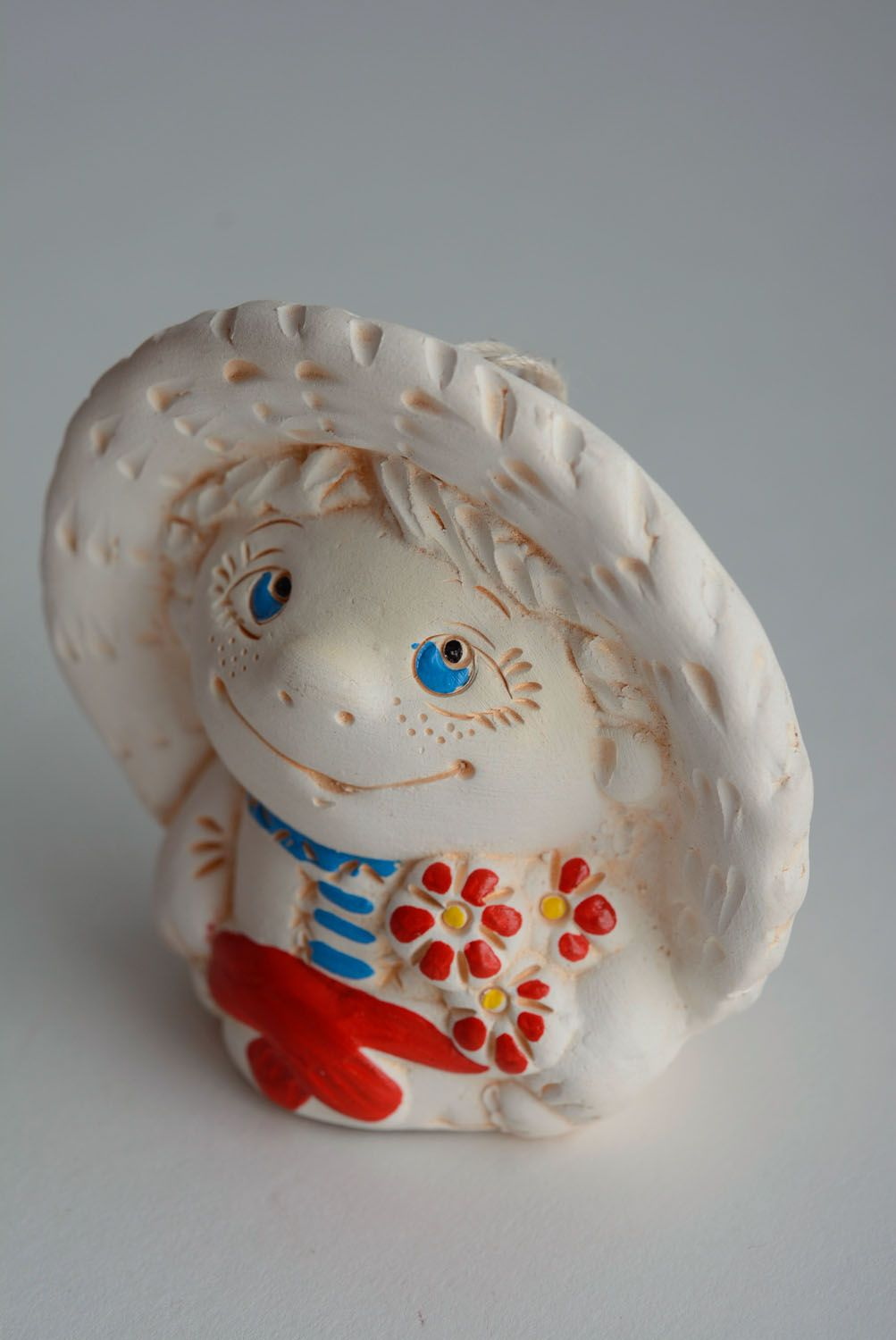 Painted ceramic bell photo 1