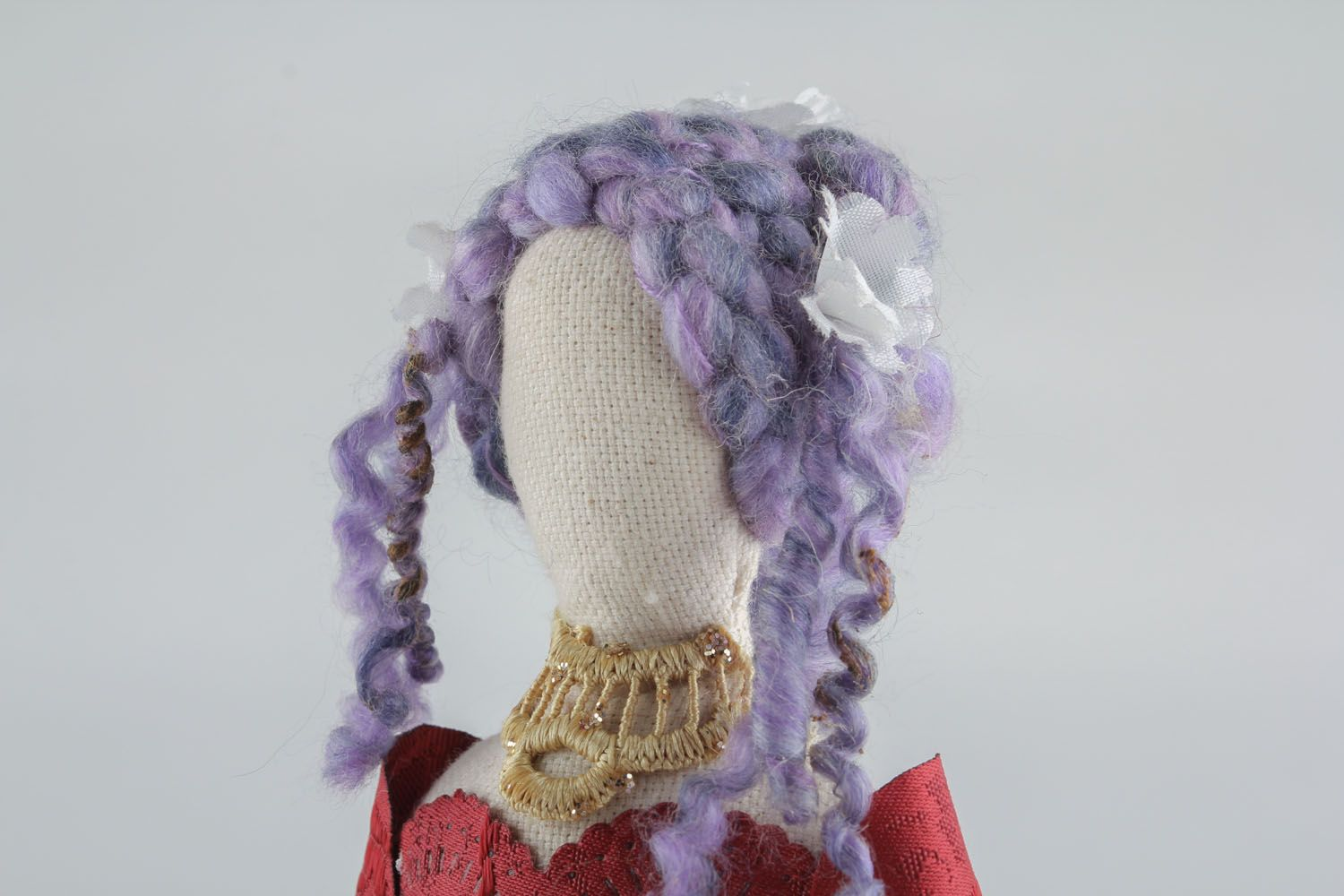 Doll in vintage dress photo 3