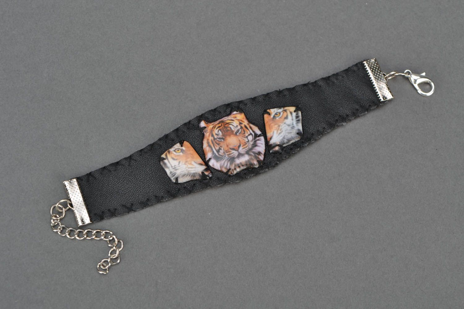Wide bracelet Tiger Power photo 3