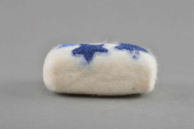 Beautiful soap dish-sponge handmade wool felting technique bath accessory photo 1