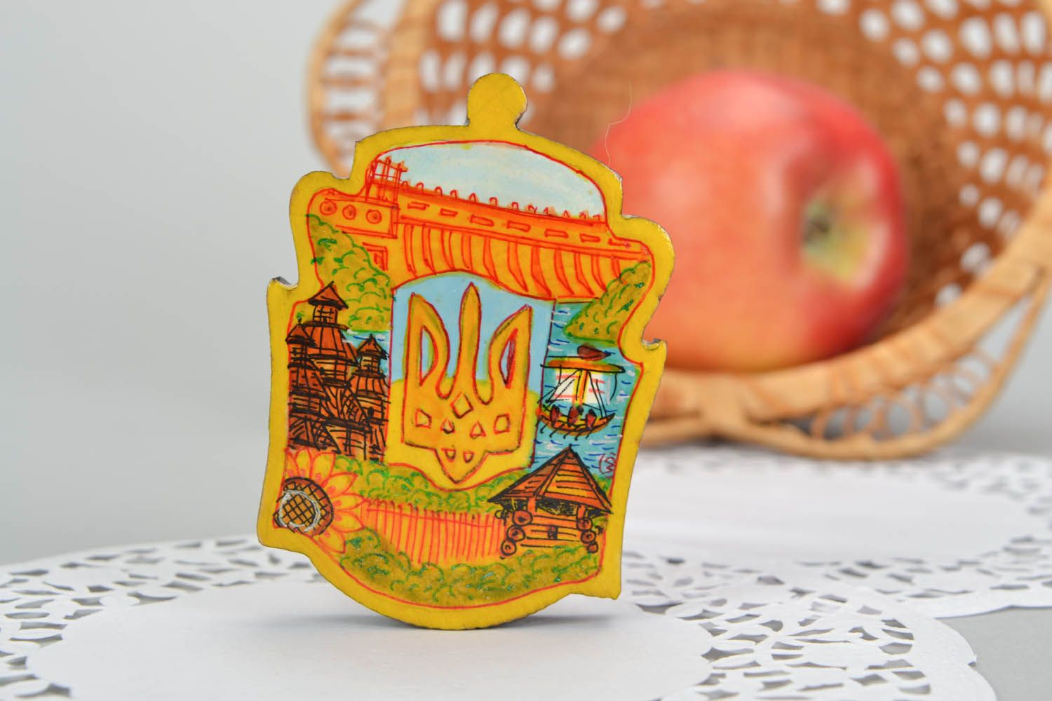 Handmade magnet Emblem of Ukraine photo 1