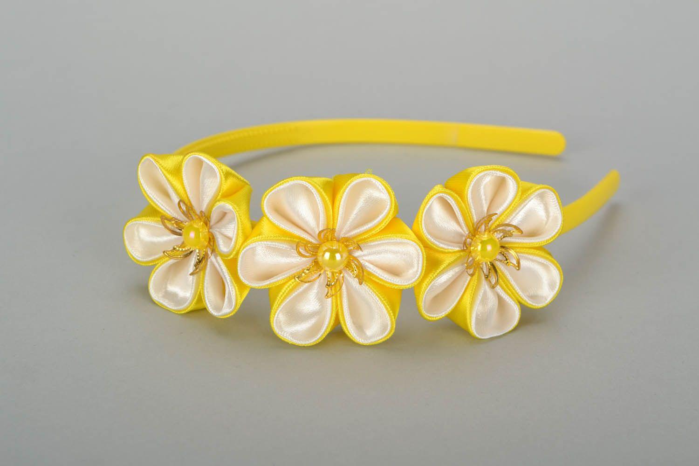 Madeheart Yellow Headband With Flowers