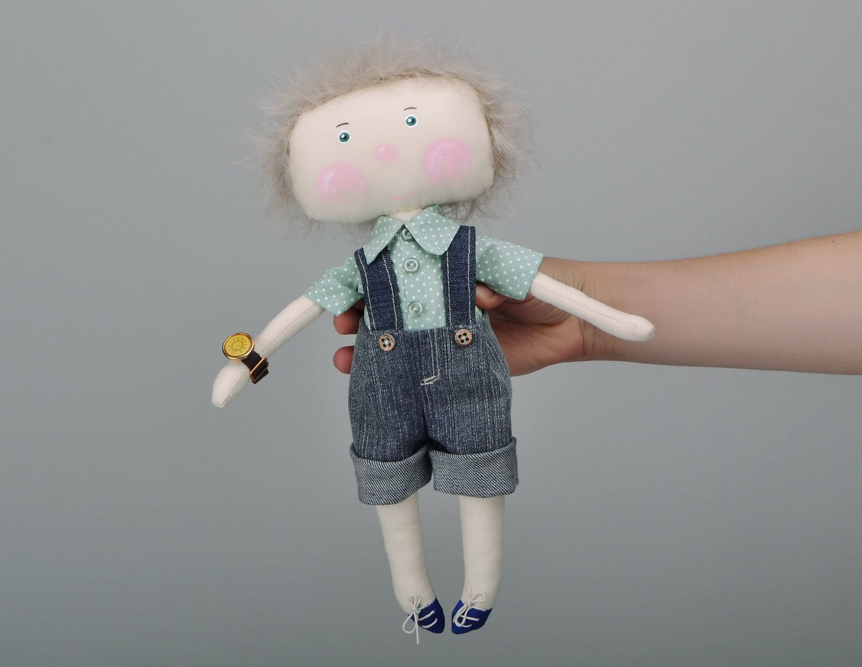 Handmade soft doll photo 5