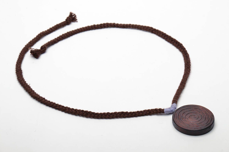 Round wooden pendant photo 4