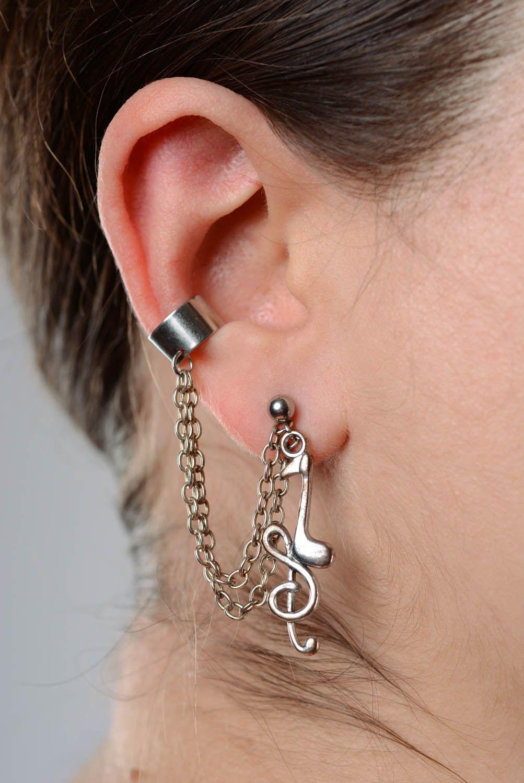 Metal cuff earrings Sonata photo 3
