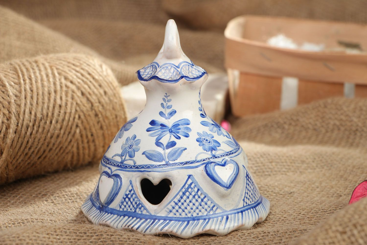 Painted ceramic bell photo 5