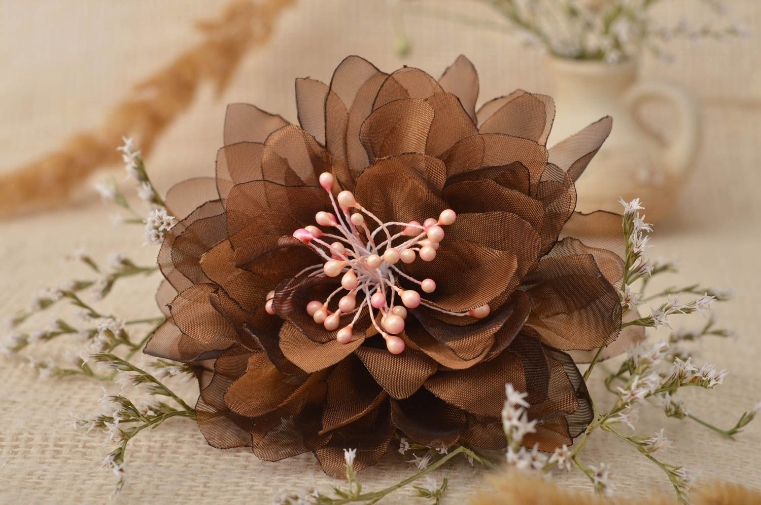 Handmade jewelry flower hair accessories flower brooch flower hair clip  photo 1