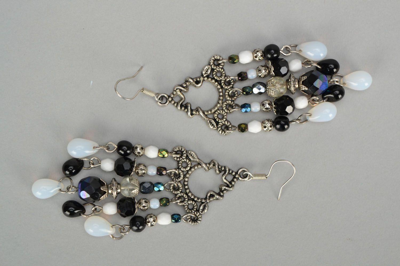 Czech glass earrings photo 3