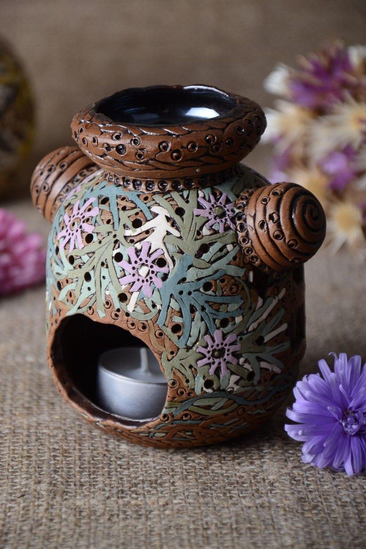 Handmade unusual candlestick carved stylish candlestick stylish home decor photo 1