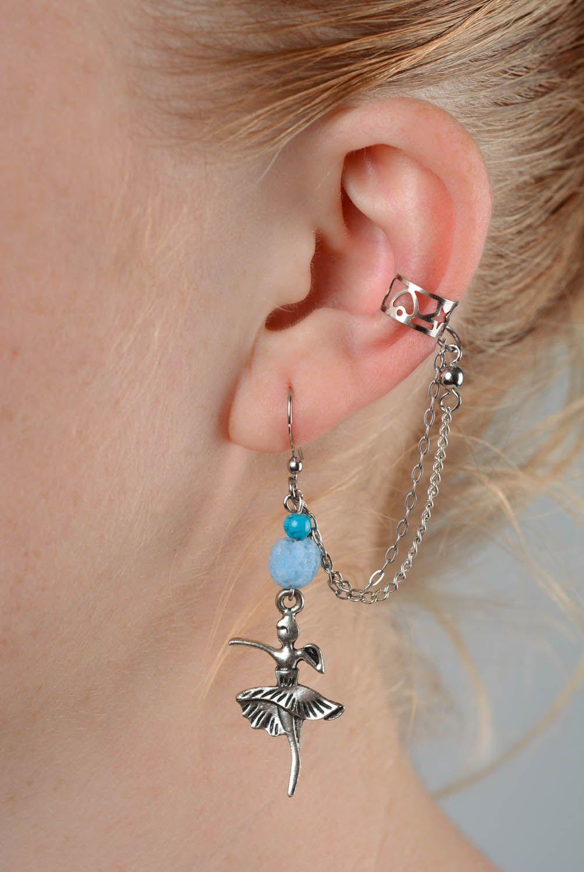 Metal cuff earrings Ballerinas photo 3