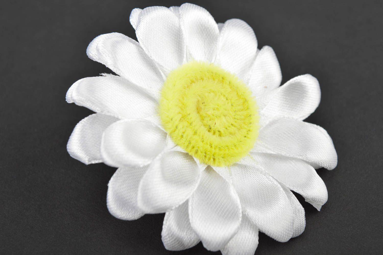 Beautiful handmade hair scrunchie textile flower hair tie trendy hair gift ideas photo 5