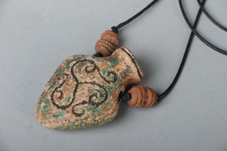 Handmade ceramic pendant photo 2