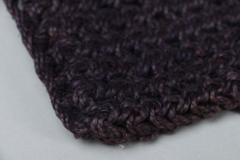 Crocheted jute body scrubber photo 3
