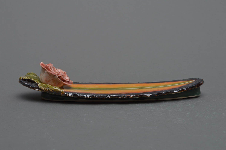 Handmade decorative glazed porcelain incense stick holder joss stick stand photo 3