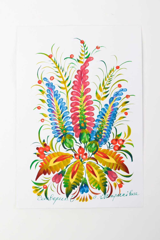 направлениями открытка с ручной росписью своему