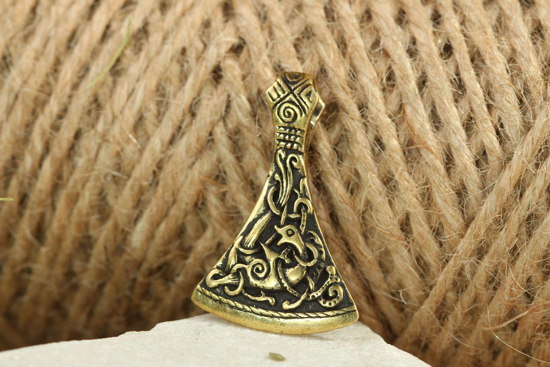 Ethnischer Anhänger mit Ornament Streithammer foto 5