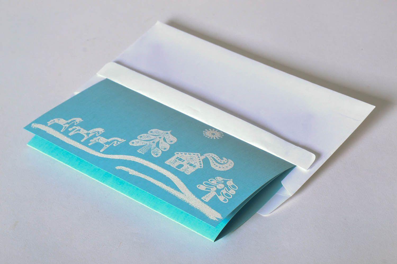 Blue greeting card photo 2