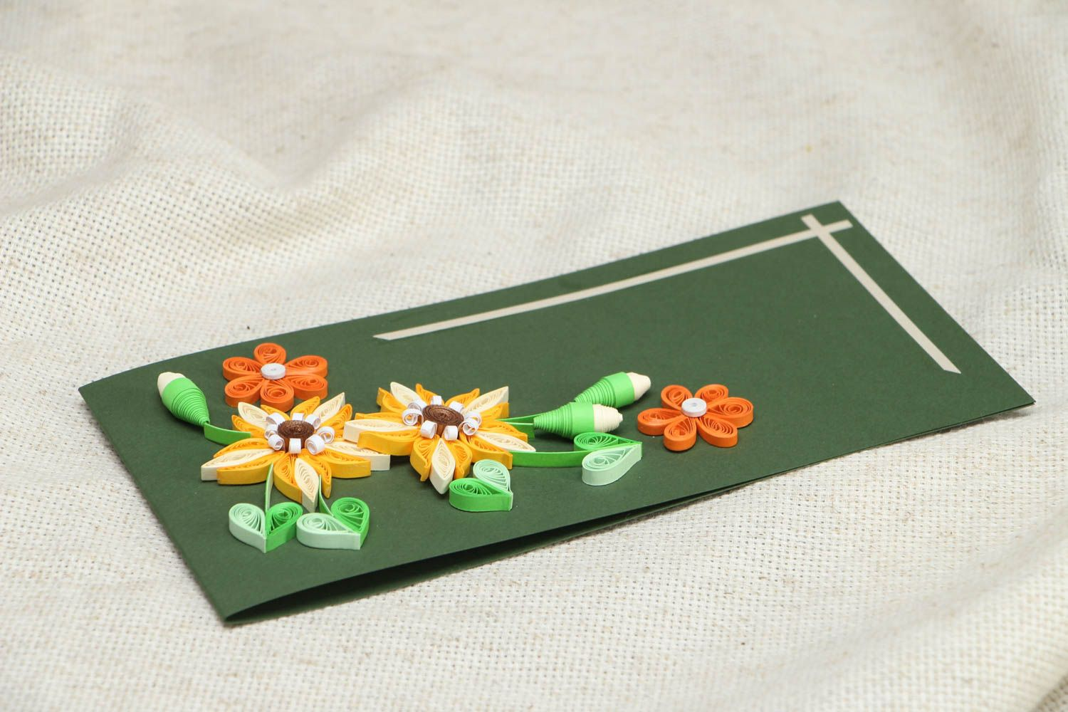 Greeting card with flowers photo 3