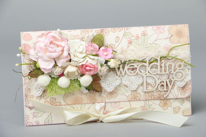 Homemade wedding greeting card photo 1
