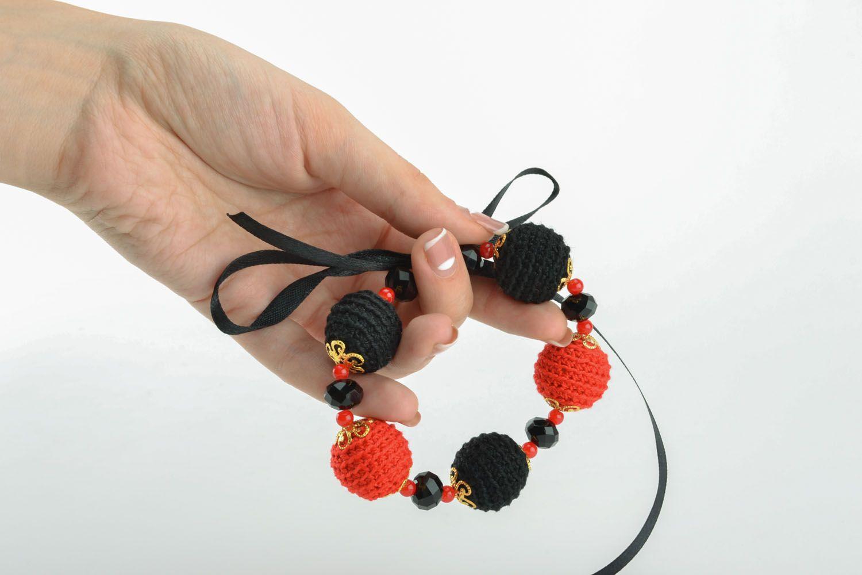 Women's bracelet with ribbon photo 5
