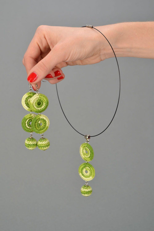 Set of crochet jewelry photo 2