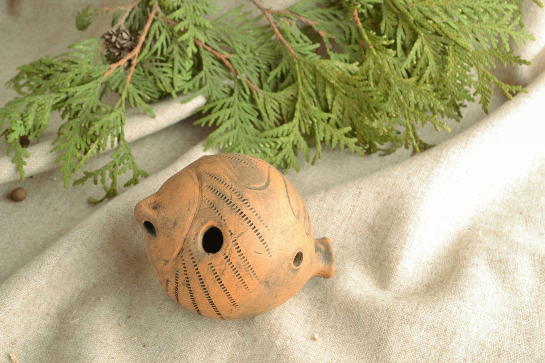 Handmade ceramic penny whistle photo 1