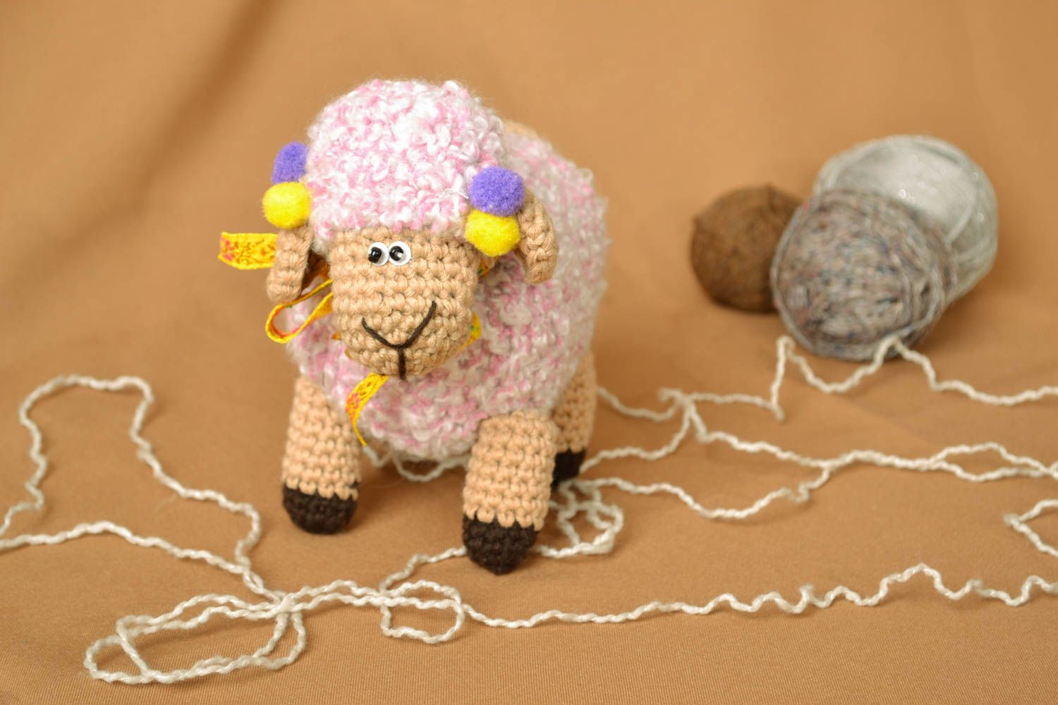 knitted toys Homemade crochet toy Sheep - MADEheart.com