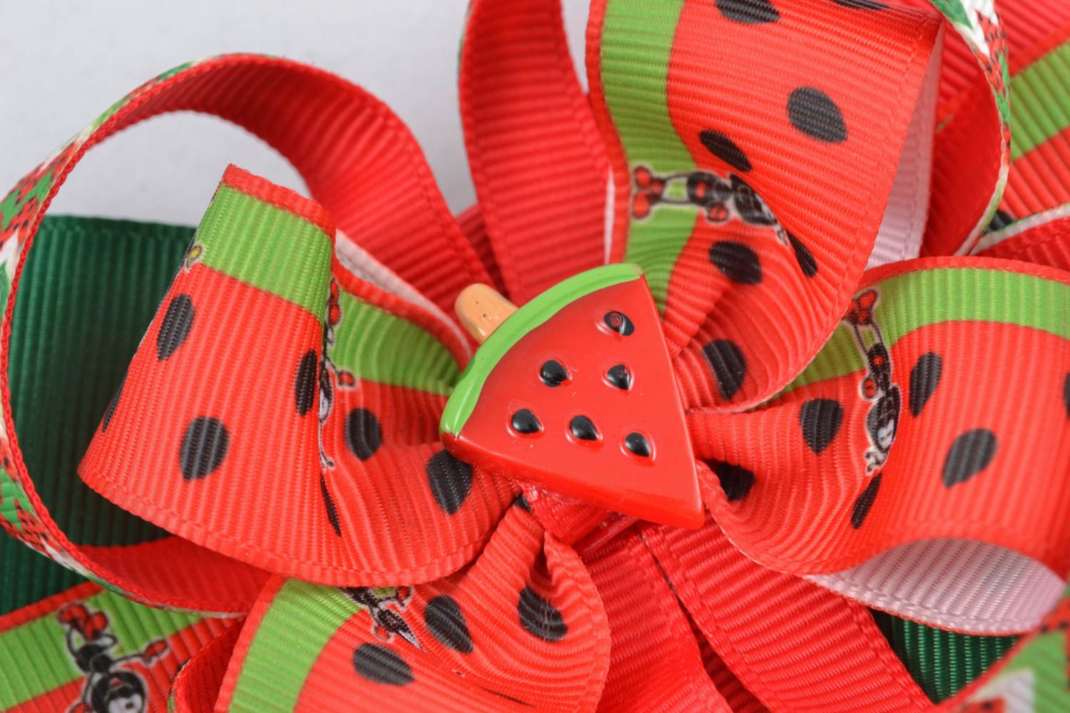 Bow hair clip Water-melon photo 3