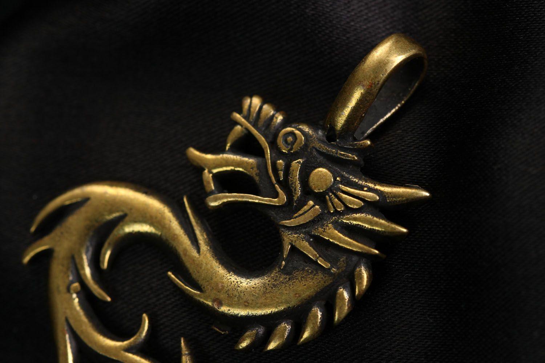 Bronze pendant Dragon photo 3